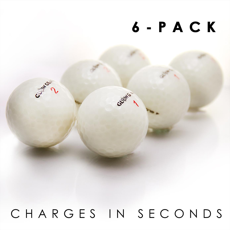 Glow V1 NIGHT GOLF BALL - 6 Ball Refill Pack
