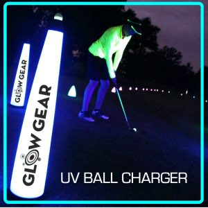 40″ UV GLOW BALL CHARGER – Tee Box Light 1