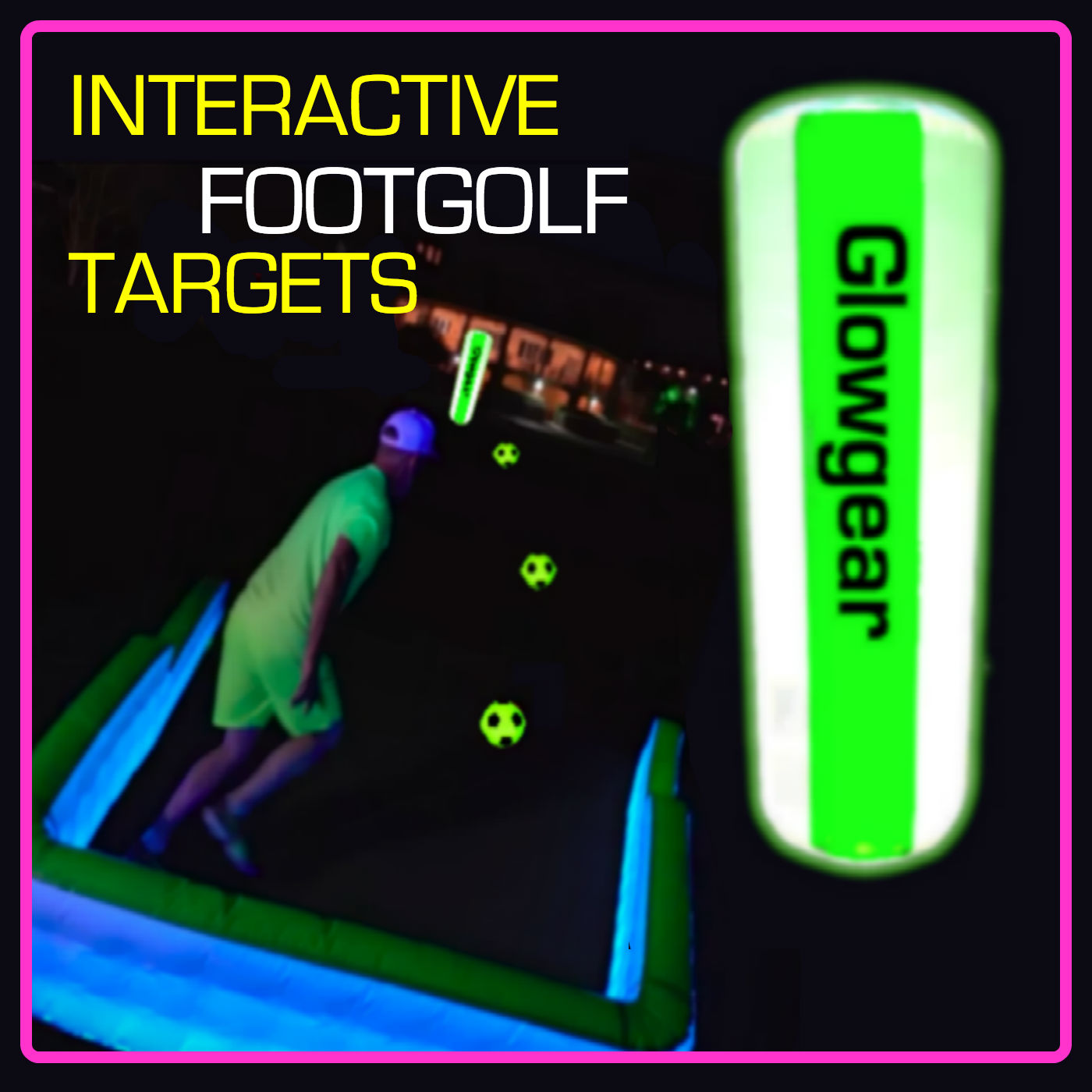6.5ft Interactive Night & Foot Golf Target Pylon