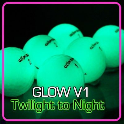 Glow V1 NIGHT GOLF BALL - 6 Ball Pack with UV Flashlight