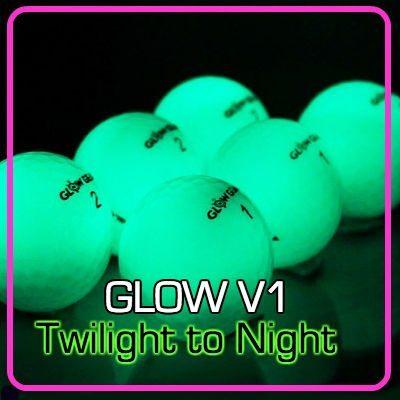Glow V1 NIGHT GOLF BALL - 6 Ball Pack with UV Flashlight