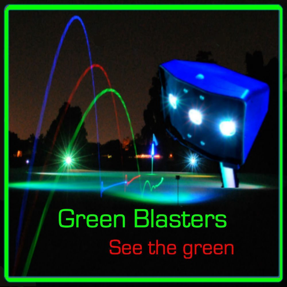 RECHARGER - GREEN BLASTER - Projection light for putting green and tee box