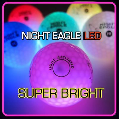 NIGHT EAGLE CV LED golf balls - Assorted colors - pack of 6