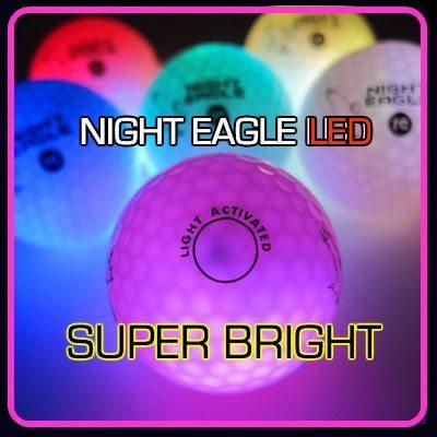 NIGHT EAGLE CV LED golf balls – Assorted colors – pack of 6 1