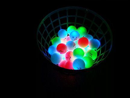 NIGHT EAGLE CV LED golf balls – Assorted colors – pack of 6 3