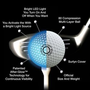 NIght Eagle CV LED Golf Ball – Assorted colors – pack of 6 5