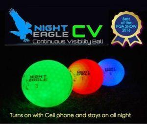 NIGHT EAGLE CV LED golf balls – Assorted colors – pack of 6 5