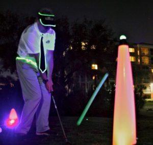 40″ UV GLOW BALL CHARGER – Tee Box Light 7