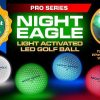 NIGHT EAGLE CV LED golf balls - Assorted colors - pack of 6