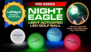NIGHT EAGLE CV LED golf balls – Assorted colors – pack of 6 2