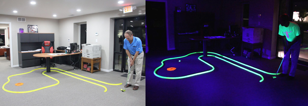 OFFICE GOLF – 1 hole putting track kit 4